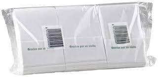 14000 unidades SERVILLETA MINISERVI SULFITO 1 capa BLANCA 17/×17 cm