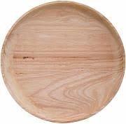plate, nature, rubberwood D30 cm, Assiette en bois