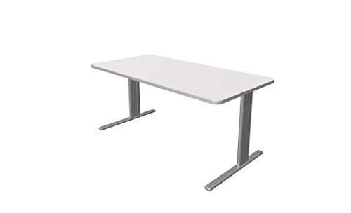 Froschkönig24 Escritorio Unic, varios tamaños, mesa de oficina, color blanco, tamaño del tablero: 160 x 80 cm