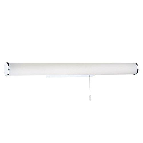 DAR SUTTON - Aplique de pared con interruptor para baño, cromo pulido grande, IP44 LED