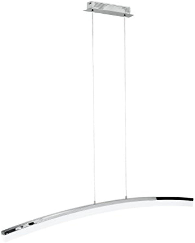 WOFI Pendelleuchte, 1-flammig, Serie Colmar, 1 x LED, 28,8 W, 8 x 120 x 150 cm, chrom 7234.01.01.0000