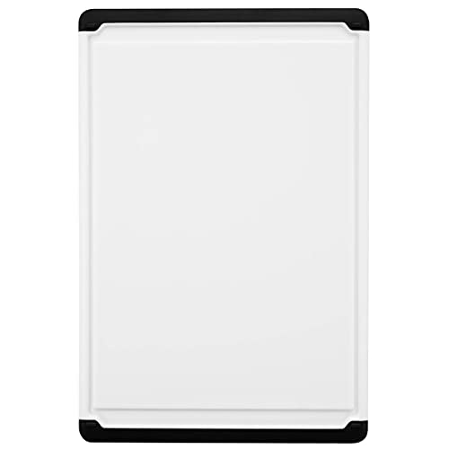 Large Cutting Board with Juice Groove - 17.75' Plastic Kitchen Chopping Board for Meat Cheese and Vegetables Heavy Duty Serving Tray