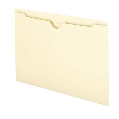 Smead File Jacket, Reinforced Straight-Cut Tab, Flat-No Expansion, Legal Size, Manila, 100 per Box (76500)