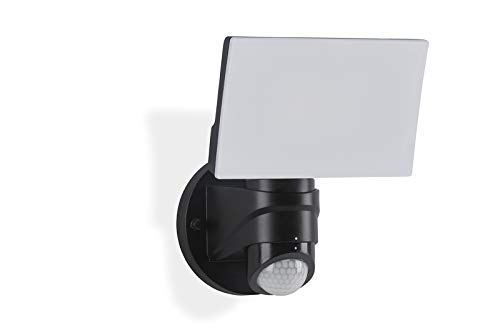 Telefunken – LED Außenwandleuchte mit Bewegungssensor, Außenwandlampe 16 Watt, 1600 Lumen, schwenkbar, Lichtfarbe: 4.000 Kelvin neutral weiß, schwarz