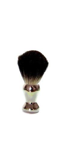 Golddachs - Brocha de afeitar de pelo de tejón (1 unidad, mango de plástico), color plateado