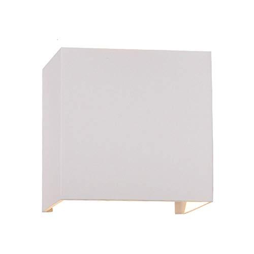 SSN Moderne minimalistischer quadratische LED Wandlampe am Bett Balkon Treppe Küche Badezimmerwand im Freien Wasserdichten Wandleuchte,mit Einstellbar Abstrahlwinkel? Up Down (Farbe : Weiß)