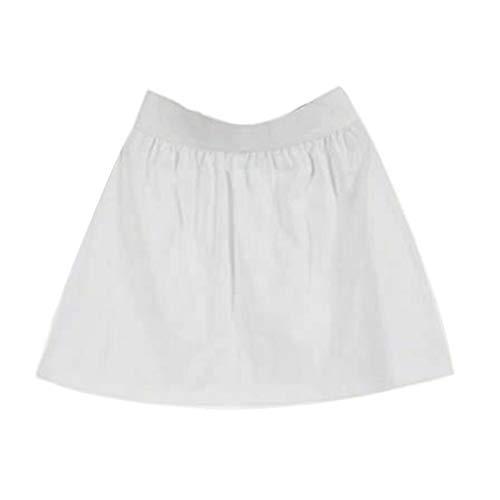 Accesorios de tela para bricolaje, falda, ropa para mujer, multiusos, fácil de llevar, cintura elástica, falda para mujer o niña, color blanco L B