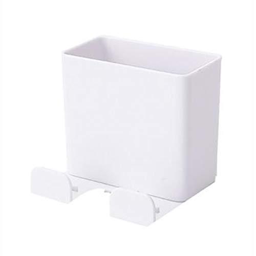 Clenp Soporte Remoto, TV Gancho Remoto Organizador Adhesivo Soporte De Almacenamiento De Teléfono Soporte De Estante Herramienta De Suspensión Blanco 6,5 x 6 x 6 cm