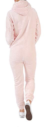 Finchgirl F2001 Damen Jumpsuit Teddy Fleece Rosa Gr. L - 2