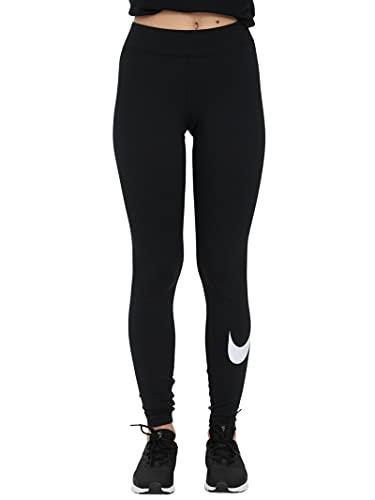 Nike W NSW ESSNTL LGGNG Swoosh Mr, Leggings Femme, Black/(White), S