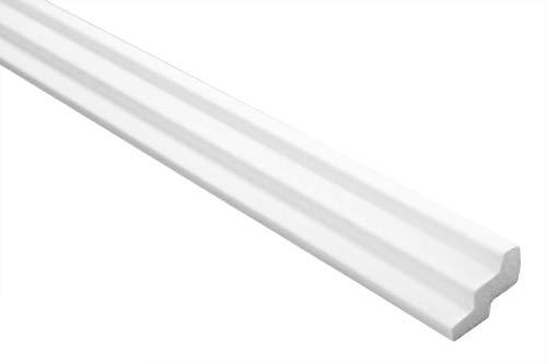 Zierleiste E-17 | leicht und stabil | extrudiertes Styropor | Stuckprofil | Decken-/ und Wandübergang | modern weiß | dekorativ | XPS | 19 x 30 mm | 2 Meter