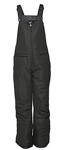 Arctix Youth Insulated Snow Bib Overalls, Black, Small/Regular