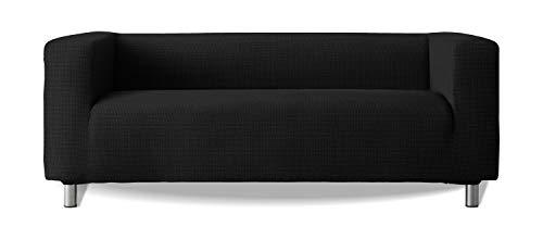 Funda de sofá Modelo Klippan Brazos Sofa Altos Tejido elástico Suave New York - Color 11 Negro