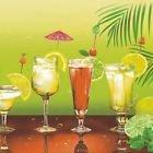 Maki servetten/napkins / 20 st. Packg./33x33cm/servettechniek/cocktail/glazen/lang drank/groen