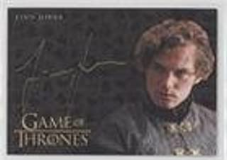 Finn Jones as Loras Tyrell (Trading Card) 2017 Rittenhouse Game of Thrones: Valyrian Steel - Gold Autographs #FIJO