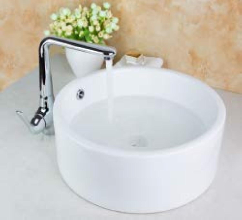 Gowe Küche Swivel 360Tippen + Waschbecken-Marke Hand Paint Farbe Waschbecken Spüle Keramik Messing Mixer Wasserhahn