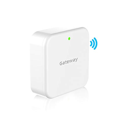 SMONET Smart Door Lock WiFi Gateway, Bluetooth Keyless Entry Electronic Door Lock Wi-Fi Bridge, TTLock Smart Deadbolt WiFi Hub Work with Alexa.