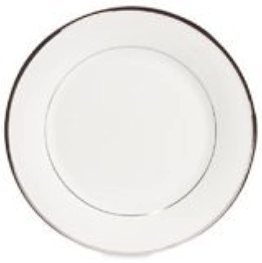Lenox Solitaire White Platinum Banded Bone China Butter Plate