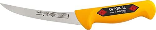 Cuchillo profesional de carnicero Eikaso, hoja curvada de 16 cm, calidad de Solingen