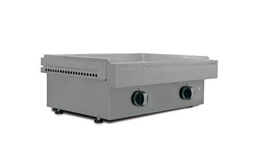 Simogas – Plancha de gas Cromo Duro Efficiency 18 mm – 2 quemadores en H Extreme