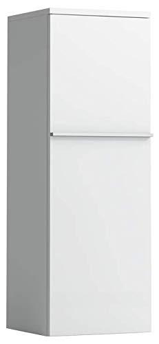 Lopende kast Halfhoge kast, deur links, met 2 glazen leggers, 1000x350x335, Kleur: Sneeuw (wit mat) - H4020110754631