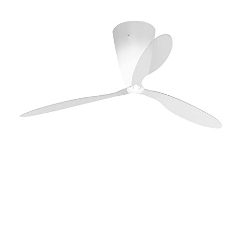 Luceplan Blow Deckenventilator mit Beleuchtung Flügel transparent