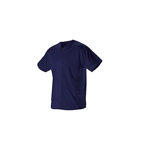 Alleson Athletic Teen-Boys Youth Baseball Jersey, Navy, Large