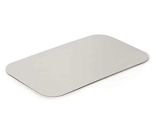 Aluminium deksel voor aluminium schaal aluminium deksel 100 st. 1000 st. 320 x 260 mm.