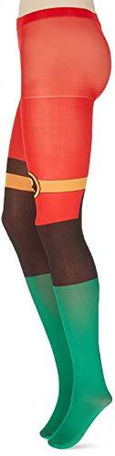 Meroncourt dames DC strips Batman klassieke Robin pak slipjes, 100 DEN, Groen, 4-7 (Maat: 39/42)