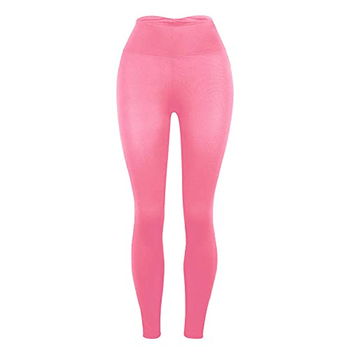 Mujer Fitness Yoga Mesh Leggings,Pantalones de Yoga Super elásticos de la Cintura Alta, Leggings Slim Hips-Rosa_S,Mujer Pantalones Leggings Push