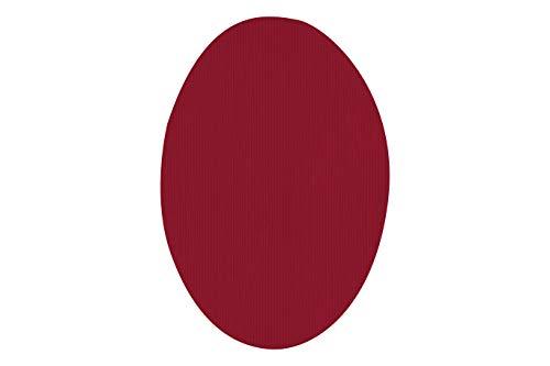 Rodilleras elásticas termoadhesivas para la ropa | Parches para reparar prendas. 6 Coderas o rodilleras de 9 x 13 cms. Color: Rojo