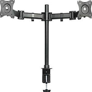 CCAN LYXX Dual Monitor Arms Fully Adjustable with Desk Mount Stand For 2 LCDs Screens