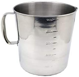 Stainless Steel Beaker, Pitcher with Handle, 169oz 5000ml 5 Liter
