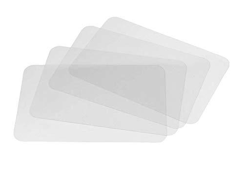 Salvamanteles Individuales,4 PCS Plástico manteles Individuales Transparente Mantel para Mesa Lavables manteles para Mesa de Comedor de Cocina y Forros de Nevera 43*28cm