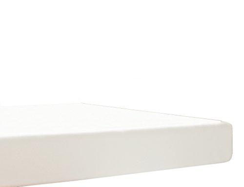 Blanc des Vosges Uni Jersey Drap housse extensible Coton Blanc 120x190 cm à 130x220 cm