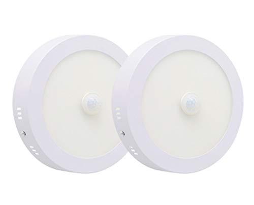 WFSDKN plafondlamp met bewegingssensor, 6 W, 12 W, 18 W, 24 W, rond/vierkant, montage van het paneel, geen uitknippen van het plafond, decoratie thuis