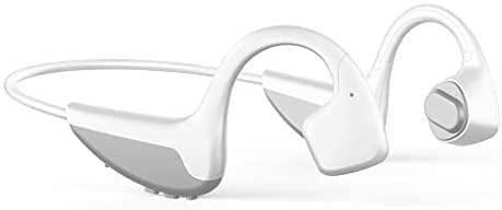 NCRD Auriculares de conducción ósea Bluetooth V5.0 - Auriculares Abiertos Auriculares inalámbricos a Prueba de Sudor con micrófono - for Ciclismo ejecutando Gimnasio