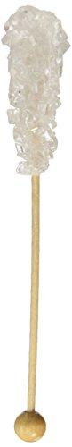 White Pure Cane Sugar Swizzle Stick - Rock Candy on Stick, 10 Count
