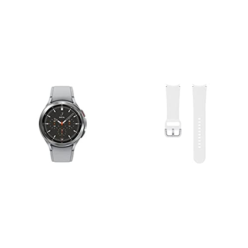 SAMSUNG Galaxy Watch 4 Classic 46mm Smartwatch with ECG Monitor Tracker Bluetooth US Version, Silver with...