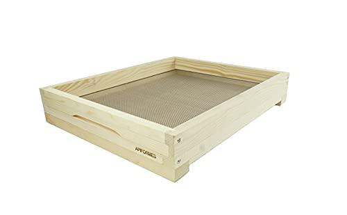 APIFORMES Fond haut pour Zander Liebig 10 nid d'abeille + cales de trous de vol + curseur au sol | Sac en bois | Récipient de sandre | Apiculture | Abeilles