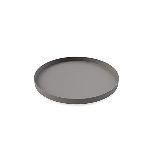 Cooee Design Tray Tablett, Edelstahl, Grau, 30 cm