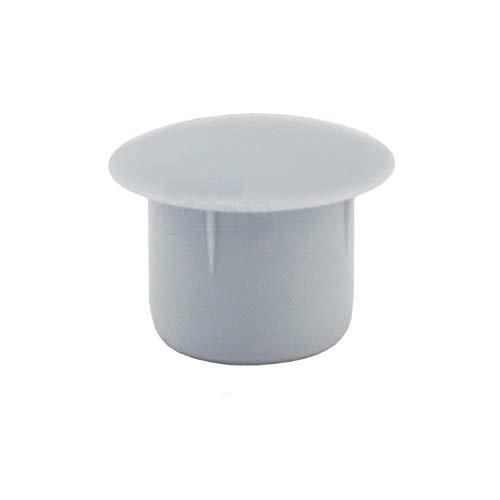 20 Abdeckkappen für Bohrungen 10 mm IROX grau Kunststoff Kopf 14 mm Kappe für Loch