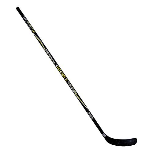 "Franklin Sports Street Hockey Sticks - Power X Junior Street Hockey Stick - Wood and Fiberglass Shaft - ABS Blade - One Piece Stick - 58"" Right Handed"