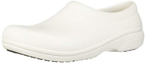 Crocs Unisex On The Clock Work Slipon Medical Professional Shoe, White, 9 US Men/ 11 US Women M US