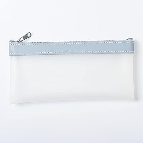 MEICHUZU Estuche de lápices INS de Moda Coreana de Cuero TPU Simple y Transparente Bolsa de Almacenamiento de papelería - 03