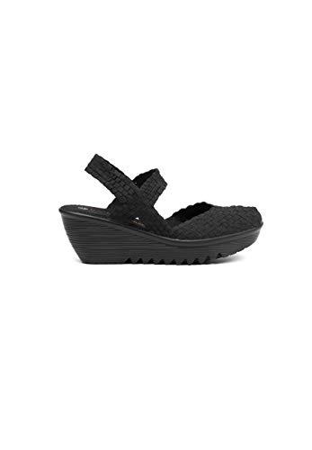 B M Bernie Mev New York Women's Wedge Sandals - Una Sandalia de Punta Cerrado, Abierto atras y Ligera, con Plantilla de Memory Foam pasear en Verano y otoño (40 EU, Black)