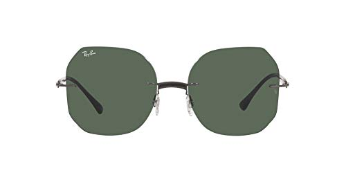 Ray-Ban 0RB8067 Gafas, BLACK ON SANDING GUNMETAL, 57 Unisex Adulto