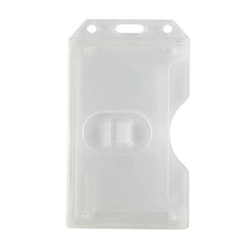 Clear Frosted 2-Sided Vertical Rigid Multi-Card Holder by Specialist ID (1 Sold Individually)