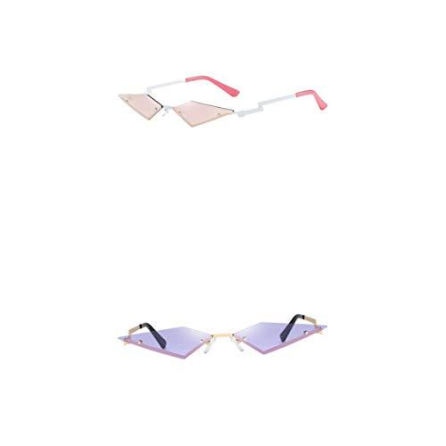MagiDeal Paquete de 2 Gafas de Sol Sin Montura Estilo Ojo de Gato Delgadas de Moda para Mujer