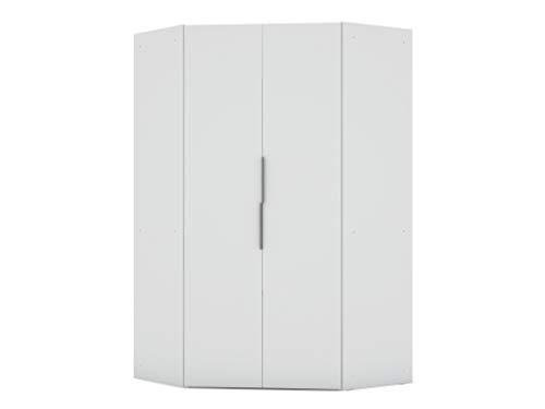 """Manhattan Comfort Rockefeller Ultra Modern 2 Door Open Corner Bedroom Closet with Hanging Rods, 65.91"""", White"""